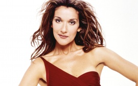 Celine Dion in red