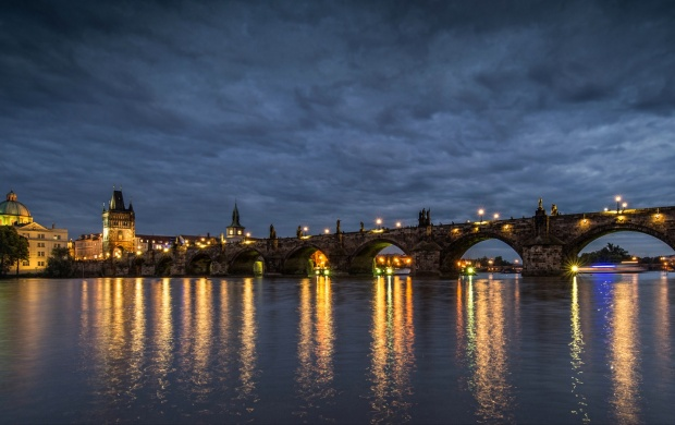 Charles Bridge In Prague (click to view)