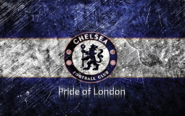 Chelsea Blue White Scratches