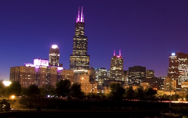 Chicago City Town Evening (click to view)