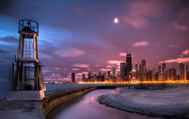 Chicago Skyline Sunrise (click to view)