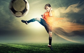 Child Games In Wonderful Soccer Dreams