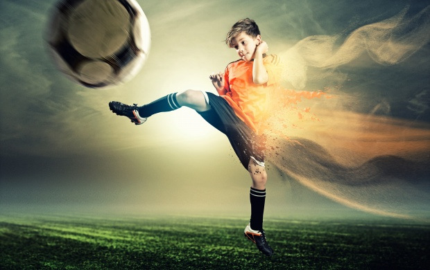 Child Games In Wonderful Soccer Dreams wallpapers