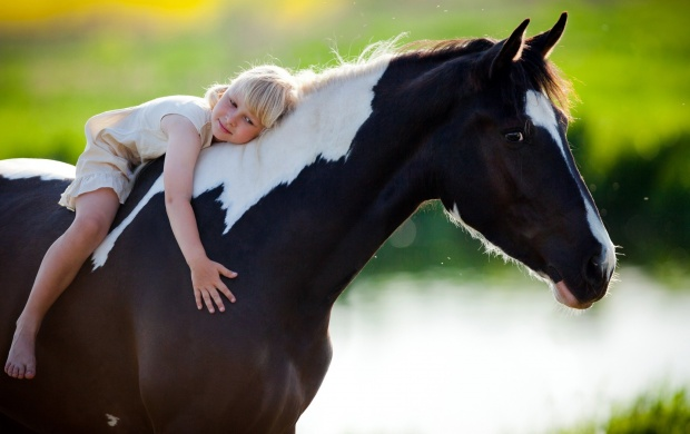 Child Sits On A Horse (click to view)