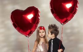 Children Friends Heart Balloon