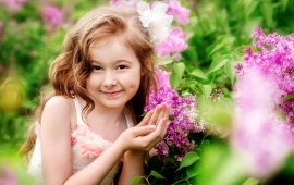 Children Girl Flirt Smile