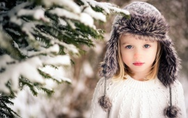 Children Girl Hat Snow Winter
