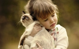 Children With Animals Tenderness