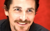 Christian Bale Red Background