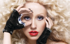 Christina Aguilera Red Lips