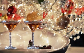 Christmas Celebration With Wine