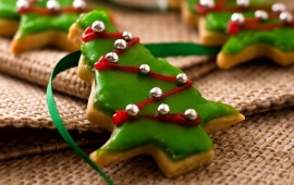 Christmas Green Tree Cookies