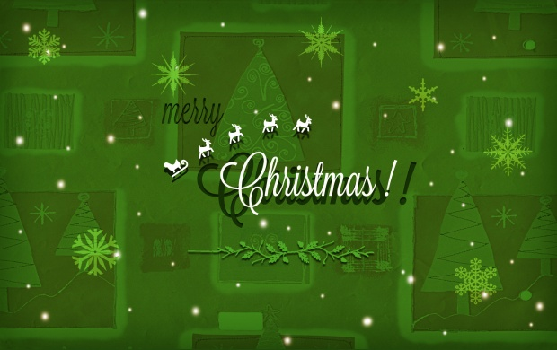 Christmas Snowflakes Green Background (click to view)