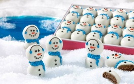 Christmas Snowman Candy