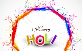 Circle Colorful Happy Holi
