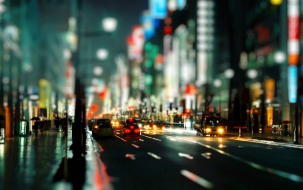 City Night Street Traffic (click to view)