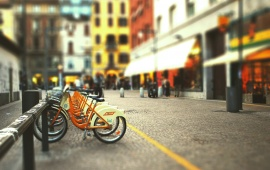 Cityscapes Streets Bicycles Blur