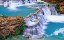 Clear Blue Waterfall