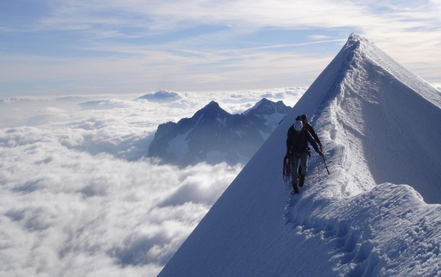 Climbing Snowy Mountains (click to view)
