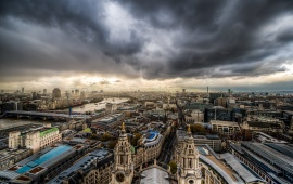 Clouds On London City