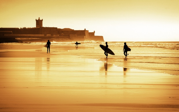 Coast Surfers Sunrise (click to view)