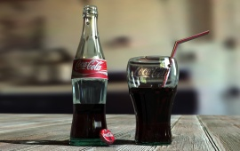 Coca Cola Bottle And Glass