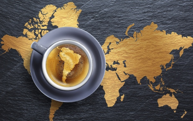 Coffee Cup And Map (click to view)