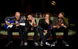 Coldplay band on the Sofa