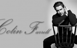 Colin Farrell Sitting On Chair