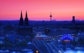 Cologne Cathedral In The Twilight Germany