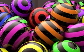 Color Strips Balls