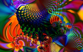 Colored Fractal On Screen