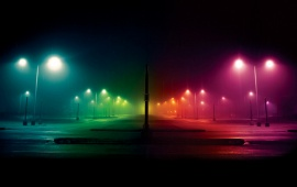 Colored Street Lights