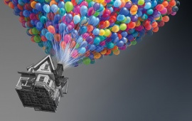 Colorful Balloons And Houses