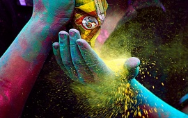 Colorful Festival Of Holi