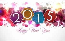 Colorful Happy New Year 2015