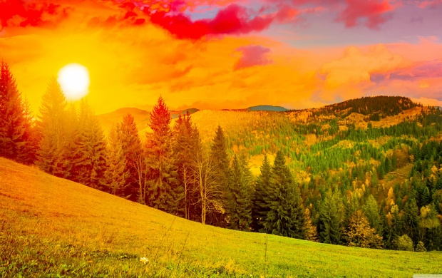 Colorful Mountain Sunrise (click to view)