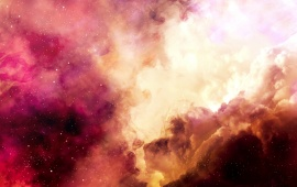 Colorful Nebula In Deep Space