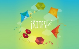 Colourful Kites On Sky