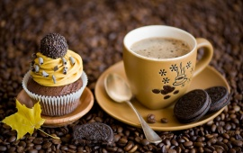 Cookies Dessert Coffee Yellow Autumn