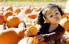 Cool Girl With Pumpkin