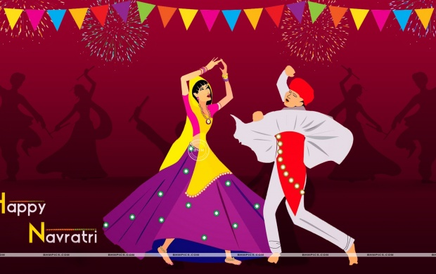Couple Playing Dandiya On Navratri (click to view)