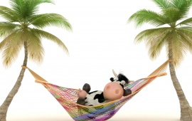 Cow On Vacation