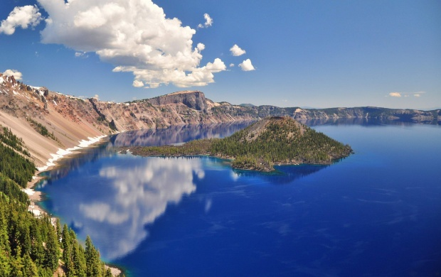 Crater Lake In Oregon (click to view)