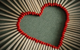 Creative Matches Red Heart