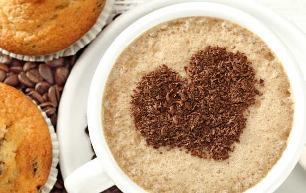 Cupcake Coffee Beans Love Heart (click to view)