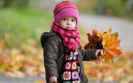 Cute Baby In Autumn (click to view)