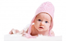 Cute Baby With Pink Hat