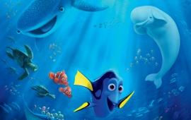 Cute Fish Finding Dory Poster