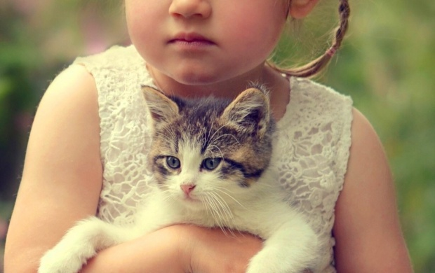 Cute Girl Kitten Friends (click to view)